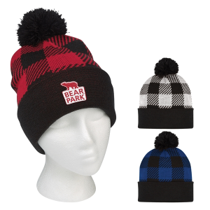 Northwoods Pom Beanie With Cuff